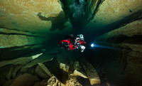 Cave Diver in the Ressel