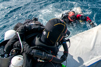 Above Water - Rebreather Divers