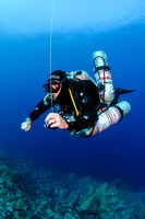 Technical diver with SMB