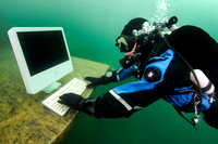 Diver with Personal Computer